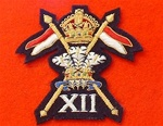12th Lancers Blazer Badge