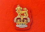Staff Officers Beret Badge Gold on Red