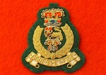 Officers Adjutants General Corps Hand Embroidered Beret Badge ( AGC Officers Beret Badge )