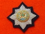 Officers Irish Guards Wire Bullion Beret Badge ( IG Officers Beret Badge )