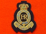 Officers Royal Horse Artillery Beret Badge ( RHA Gold Wire Bullion Wire Beret Badge )