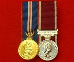Court Mounted Queens Golden Jubilee & Army Long Service and Good Conduct Miniature Medals