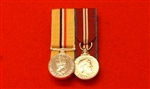 Court Mounted Op Telic Iraq Campaign Queens Diamond Jubilee Miniature Medals