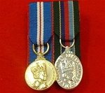 Court Mounted Queens Golden Jubilee & VRSM Long Service and Good Conduct Miniature Medals