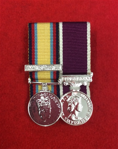 Court Mounted Gulf war 1, Army Long Service and Good Conduct Miniature  Medals