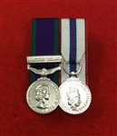 Court Mounted Northern Ireland Queens Silver Jubilee Miniature Medals