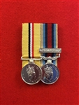 Court Mounted OP Telic OSM Afghanistan Miniature Medals
