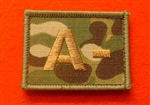 Quality Multicam Blood Group Patch MTP Blood Group A-
