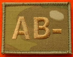 Quality Multicam Blood Group Patch MTP Blood Group AB-