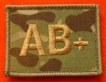 Quality Multicam Blood Group Patch MTP Blood Group AB+