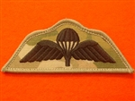 Combat Badge Black Multicam Parachute Regiment Wings Airborne