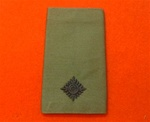 2nd LT Olive Combat Rank Slide ( Second lieutenant Olive Drab Combat Rank Slide )