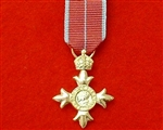 OBE Miniature Medal ( With Military Style Ribbon )