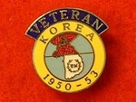 Korea Enamel Veterans Badge 1950-53 Pin Lapel Badge