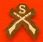 FAD Snipers Badge Crossed Rifles Uniform Badge Cross Rifles