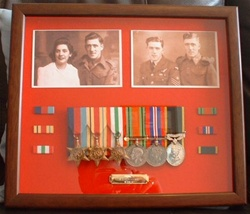 "Design 23 Military Medal Frame (  Presentation Frame ) Box Frame To Fit 5-9 Medals & 2 x 6"" by 4"" x Photo`s"