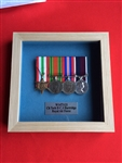 Design 65 Military Medals  Pine Wood Box Frame