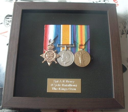 This is a fantastic quality Black Wood Finish Medal Frame + Plaque ...