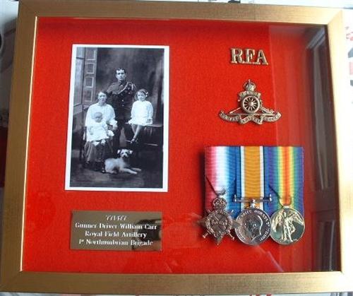 design 45 ww1 trio gold medal box frame military frames - Military Picture Frames