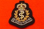 Officers Royal Army Medical Corps Beret Badge ( RAMC officers Bullion Wire Hand Embroidered beret badge )