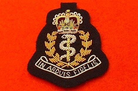 Officers Royal Army Medical Corps Wire Beret Badge