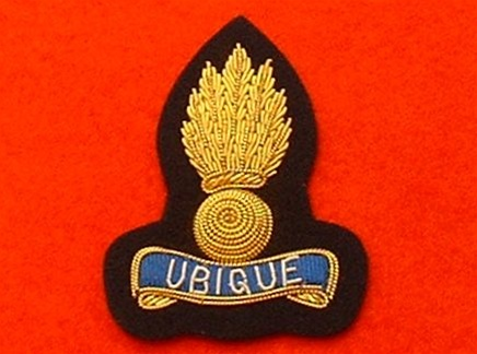 Officers Royal Engineers Beret Badge ( RE Gold Wire Bullion Wire Beret  Badge )