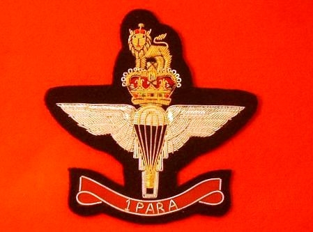 1 Para Blazer Badge ( 1 Parachute Regiment Bullion Wire Blazer Badge )