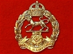 The Royal Hampshire Regiment Cap Badge Kings Crown