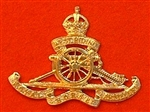 West Riding Artillery Kings Crown Metal cap badge.