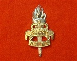 Royal Army Education Corps Metal Cap Badge ER 11 ( RAEC CAP BADGE )