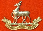 The Royal Warwickshire Regiment Metal Cap Badge