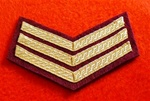 Mess Dress Sergeants Chevrons Gold on Red)
