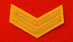 Corporal 2 Bar Cavalry Yellow Mess Dress Chevrons ( CPL Mess Dress Chevrons Yellow )