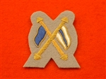 Signalers Crossed Flags Intelligence Corps Mess Dress Badge Grebe Grey ( IC Mess Dress Badge )