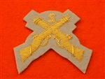 Snipers Crossed Rifles Intelligence Corps Mess Dress Badge Grebe Grey ( IC Mess Dress Badge )