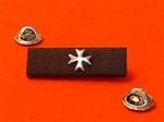 The Order of St John Medal Ribbon Bar Stud With Silver Maltese Cross Emblem
