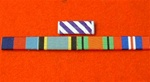 Distinguished Flying Cross 39-45 Star Air Crew Europe Star Defence & War Medal Ribbon Bar ( Sew Type )