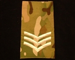 Quality Ivory SGT Muticam Rank Slide ( Sergeant Multi Terrain Pattern Combat Rank Slide ) SGT MTP Rank Slide