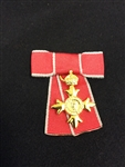 Miniature Civilian OBE Mounted on Ladies Bow