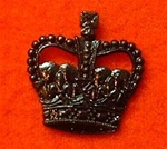 "Officers black Crown Clutch Pins for Service Dress 5/8th"" ( officers service dress crown )"