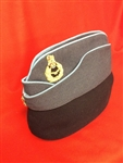 RAF Officer's Air Crew Forage Cap + Hand Embroidered Badge