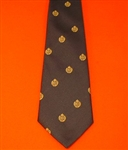 Quality RAF Navy Blue Crest Motif Tie ( Royal Air Force Tie ) RAF Tie