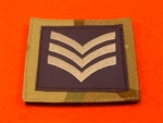 Royal Air Force Sergeant MTP UBAC'S Patch Velcro Backed ( RAF SGT Multicam UBAC'S Multi Terrane Pattern Rank Badge )