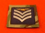 Royal Air Force Sergeant Aircrew MTP UBAC'S Patch Velcro Backed ( RAF SGT Aircrew Multicam UBAC'S Multi Terrane Pattern Rank Badge )