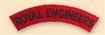 Re-Enactors Royal Engineers Shoulder Title