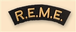 Re-Enactors Royal Electrical & Mechanical Engineers Shoulder Title ( Reenactors REME Badges )