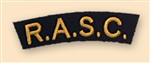 Re-Enactors Royal Army Service Corps Shoulder Title ( Reenactors RASC Badges )