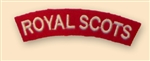 Re-Enactors Royal Scots Regiment Shoulder Titles