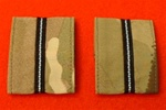 RAF Pilot Officers Multicam Rank Slides ( RAF Multi Terrain Pattern Combat Rank Tabs ) RAF MTP Combat Badge