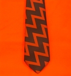 Blue Royal Artillery Regimental Tie with red zig zag pattern ( RA Tie ) British Army Tie.